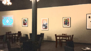 Old World Tasting Room art wall in Seattle SODO Urbanworks